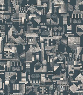 Déco - Stickers, papiers peints & posters - Papier peint Utopia Ascending / 1 rouleau - larg 52 cm - Petite Friture - Noir - Papier intissé