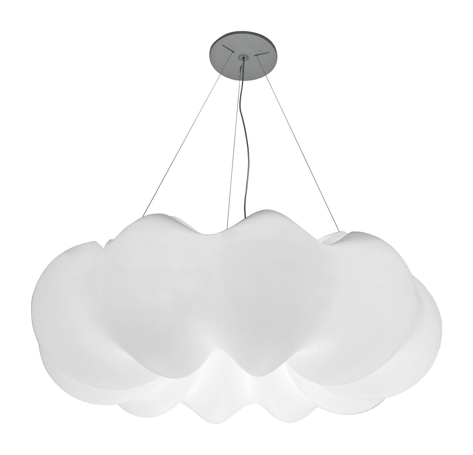 Leuchten - Pendelleuchten - Nuboli Pendelleuchte Ø 153 cm - Artemide - Weiß - rotationsgeformtes Polyäthylen