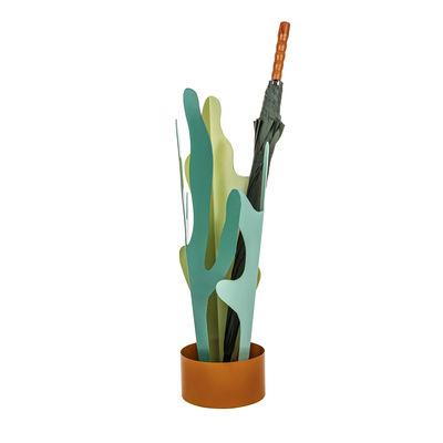 Interni - Contenitori e Cesti - Portaombrelli Rain Plants - / Metallo - H 72,5cm di Seletti - Verde / Terracotta - Metallo, Resina