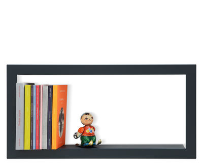 Furniture - Bookcases & Bookshelves - Largstick Shelf - Lacquered sheet metal - 59 x 28 cm by Presse citron - Slate - Lacquered steel
