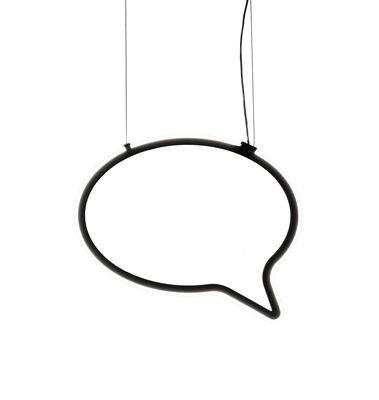 Suspension Bla Bla small / Espace d'expression - L 57 cm - Mogg noir,transparent en matière plastique