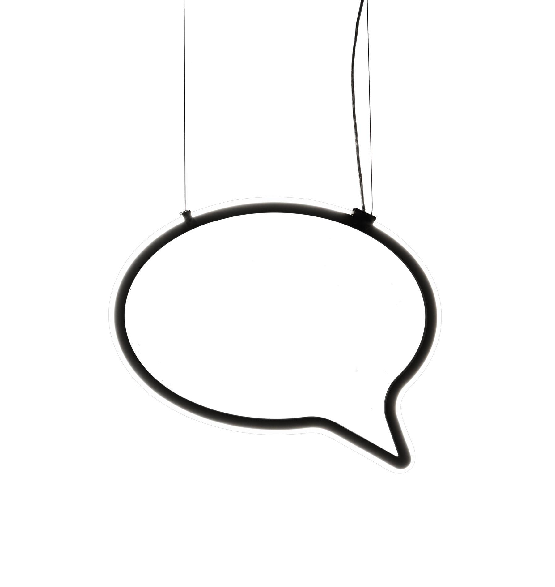 Luminaire - Suspensions - Suspension Bla Bla small / Espace d'expression - L 57 cm - Mogg - Noir / Small - Plexiglass, PVC