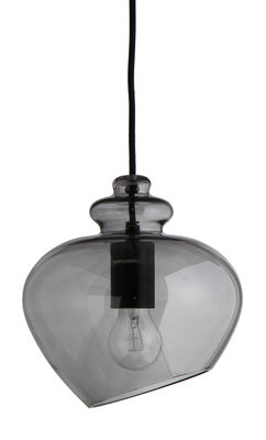 Suspension Grace / Ø 23 cm - Frandsen noir,gris transparent en verre