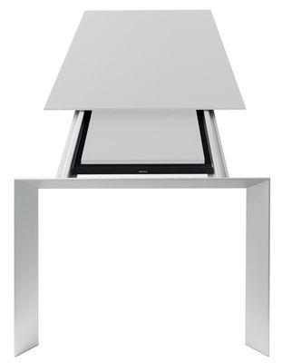 Table à rallonge Nori L 139 à 214 cm Kristalia blanc,aluminium en métal