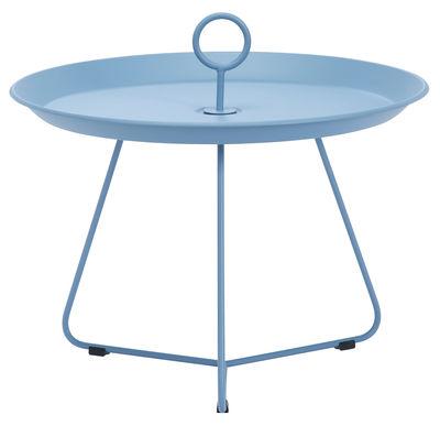 Table basse Eyelet Medium Ø 60 x H 43,5 cm Houe bleu pastel en métal