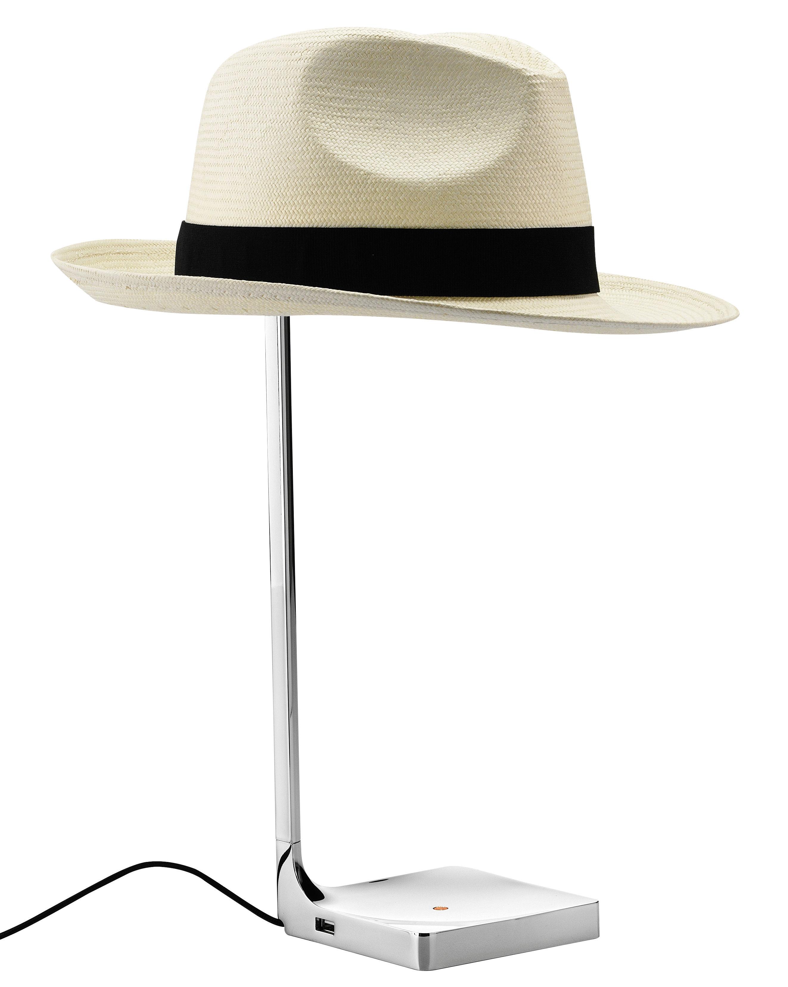 Lighting - Table Lamps - Chapo Table lamp by Flos - Chromed - Chromed aluminium, Straw