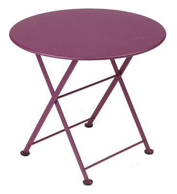 Arredamento - Tavolini  - Tavolino Tom Pouce di Fermob - Melanzana - Acciaio laccato