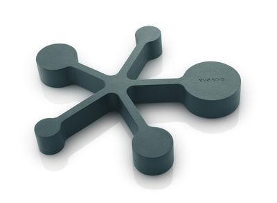 Tischkultur - Topfuntersetzer - Topfuntersetzer / Integrierte Messlöffel - Biegsames Silikon - Eva Solo - Petrolblau - Silicone souple