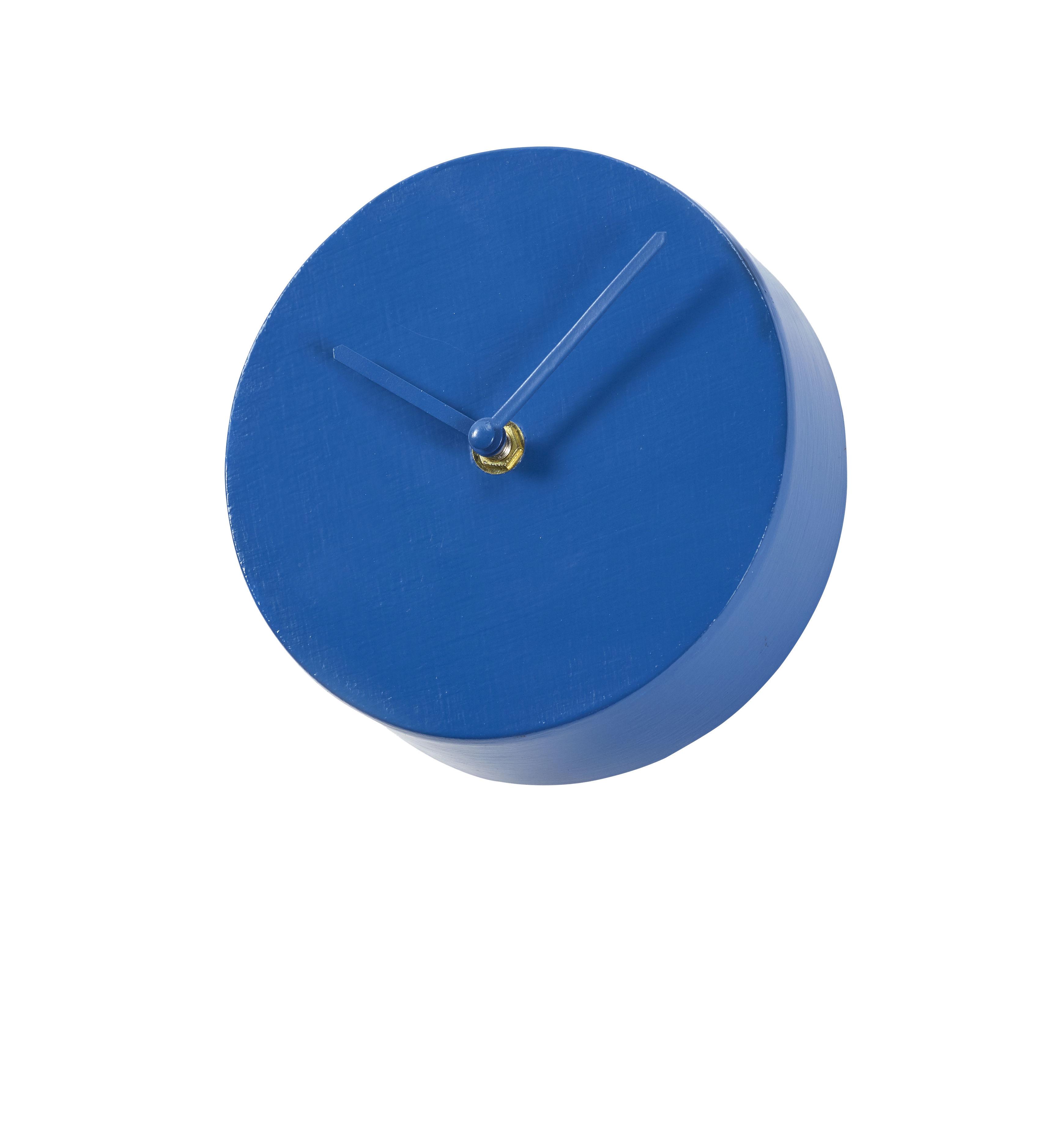 Decoration - Wall Clocks - Ronde Wall clock - / Ø 15 cm by Serax - Round / Californian blue - Painted metal