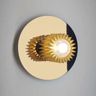 Lighting - Wall Lights - In the sun Medium Wall light - / Ceiling light - ø 27 cm by DCW éditions - Gold / Gold mesh - Aluminium, Glass, Steel
