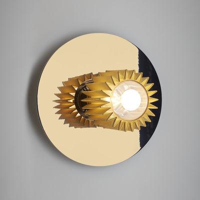 Leuchten - Wandleuchten - In the sun Medium Wandleuchte / Deckenleuchte - Ø 27 cm - DCW éditions - Goldfarben / Gitter goldfarben - Aluminium, Glas, Stahl