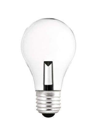Ampoule LED E27 MONOBLOC / 1,5W = 15W - Pop Corn transparent en verre