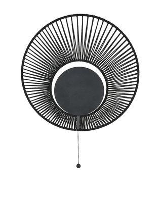 Luminaire - Appliques - Applique Oyster / Ø 40 x H 60 cm - Forestier - Noir - Coton, Métal