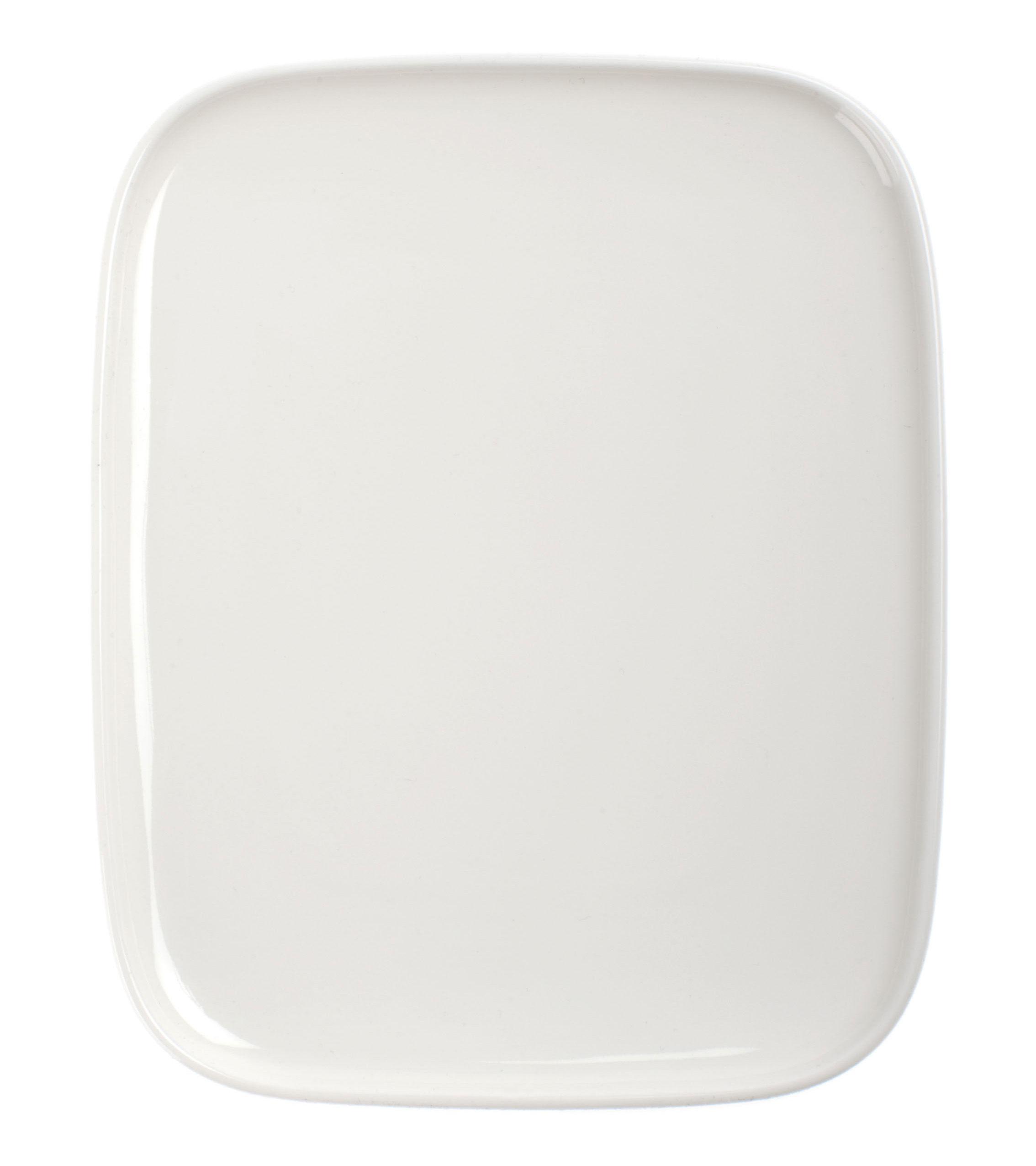 Arts de la table - Assiettes - Assiette à dessert Oiva / 12 x 15 cm - Marimekko - Blanc - Porcelaine émaillée