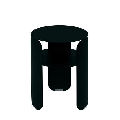 Möbel - Couchtische - Bebop Beistelltisch / Ø 35 x H 45 cm - Fermob - Lakritz - bemaltes Aluminium
