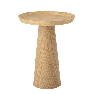 Möbel - Couchtische - Luana Beistelltisch / Eiche - Ø 44 cm - Bloomingville - Eiche Natur - Eichenholzfurnier, massive Eiche