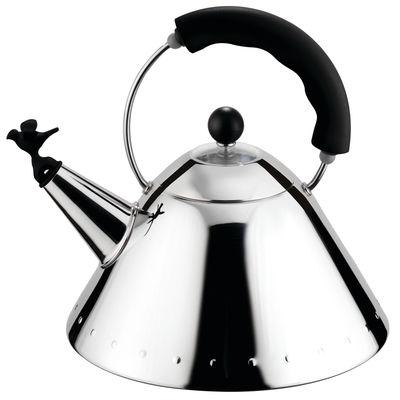 Tavola - Caffè - Bollitore Oisillon di Alessi - Nero - Acciaio inossidabile, Poliammide