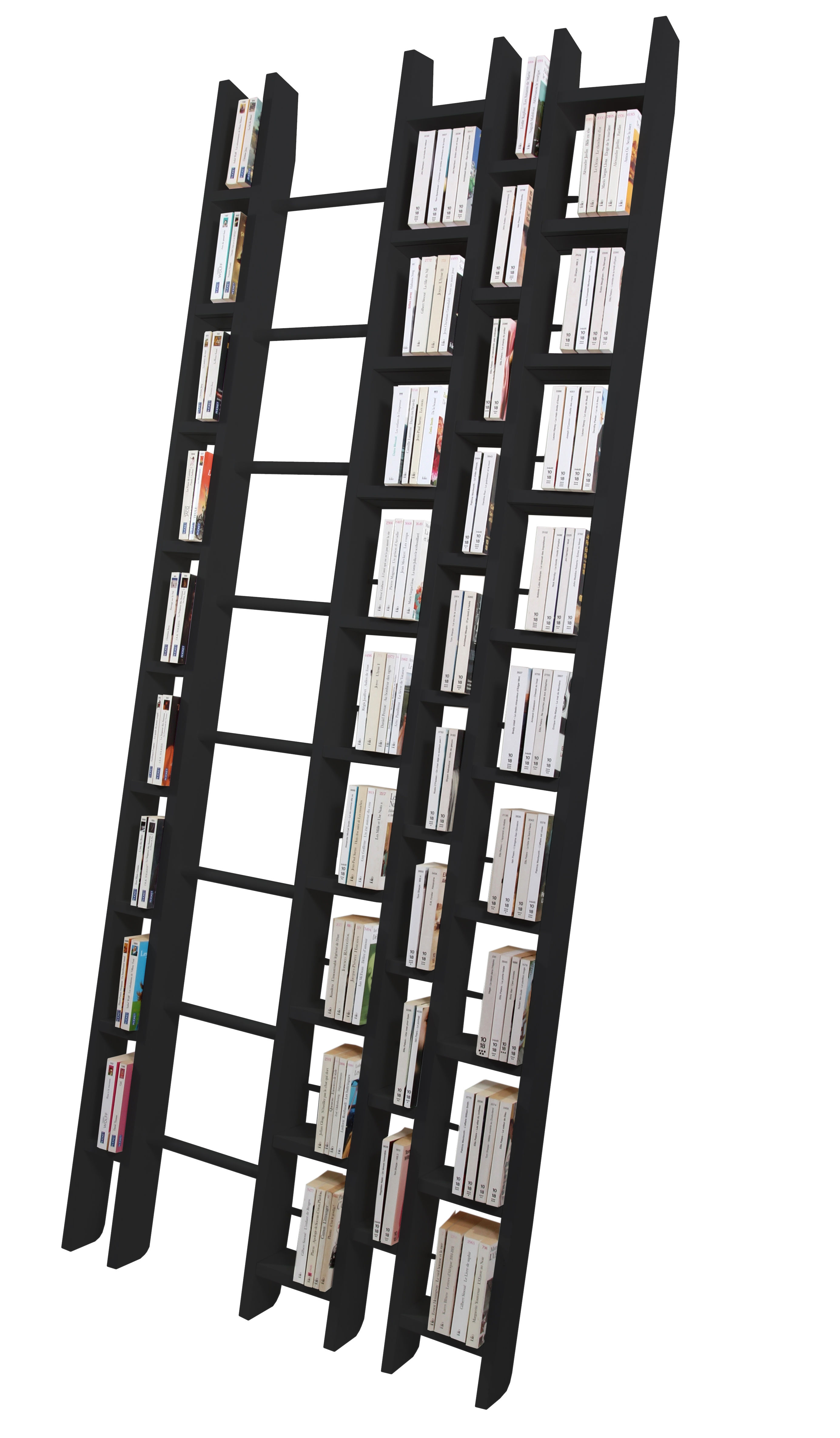 Furniture - Bookcases & Bookshelves - Hô + Bookcase - W 96 cm by La Corbeille - Black - Lacquered solid beech