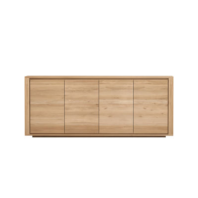 Buffet Shadow / Chêne massif - L 203 cm / 4 portes - Ethnicraft bois naturel en bois