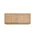 Buffet Shadow - / Rovere massello - L 203 cm / 4 porte di Ethnicraft