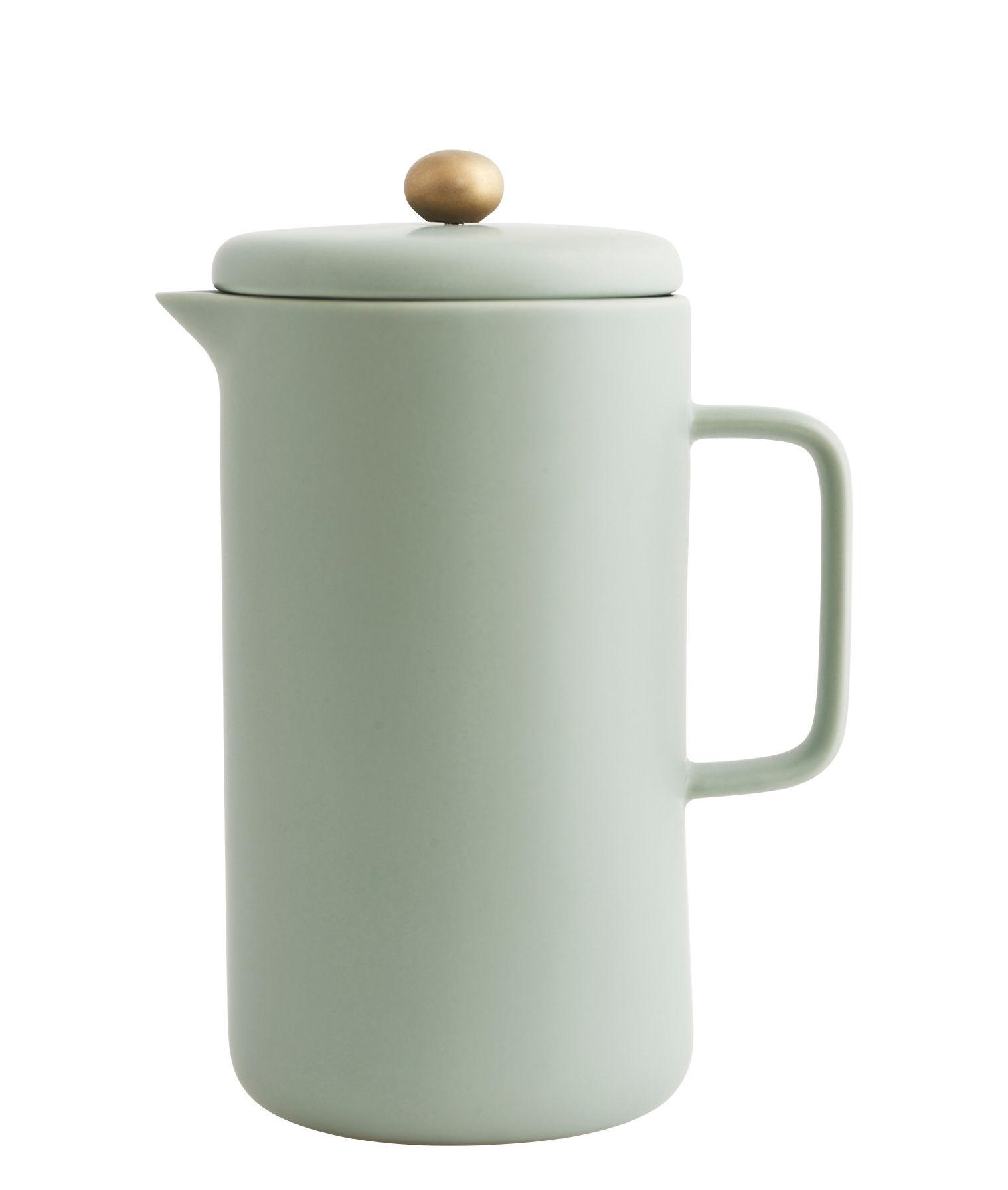 Arts de la table - Thé et café - Cafetière à piston Pot / Porcelaine - 1 L - House Doctor - Vert d'eau - Acier, Porcelaine