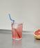 cannuccia di vetro Sip Spiral - / Set di 4 - L 20 cm di Hay