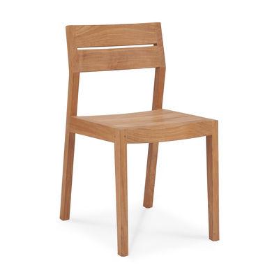Mobilier - Chaises, fauteuils de salle à manger - Chaise EX 1 Outdoor / Teck - Ethnicraft - Teck - Teck massif