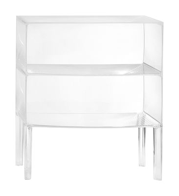 Furniture - Dressers & Storage Units - Ghost Buster Chest of drawers by Kartell - Cristal - PMMA