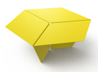 Furniture - Coffee Tables - Kuban Coffee table by Matière Grise - Yellow - Steel