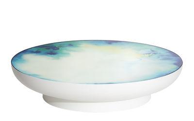Francis Extra- large Couchtisch / Ø 110 x H 24 cm - Spiegel - Petite Friture - Weiß,Spiegelfarben,Bleu-jaune