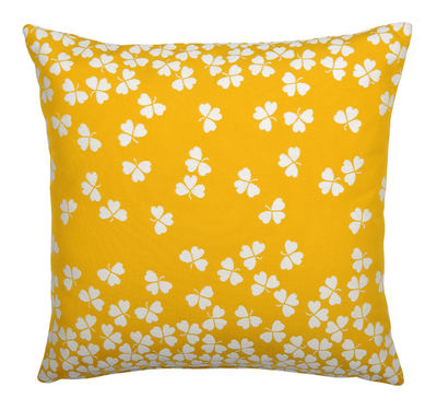 Coussin d'extérieur Trèfle / 44 x 44 cm - Fermob jaune en tissu