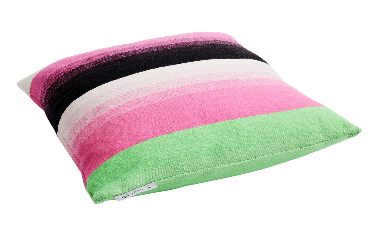 Interni - Cuscini  - Cuscino Colour n°4 - / 50 x 50 cm - Lana di Hay - Rosa & verde -  Plumes, Lana merinos