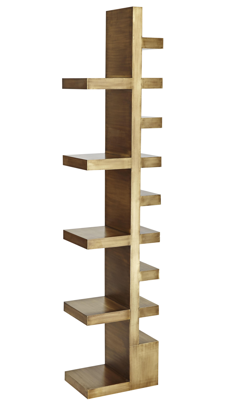 Mobilier - Etagères & bibliothèques - Etagère Mass / H 200 cm - Tom Dixon - Laiton - Bois plaqué laiton
