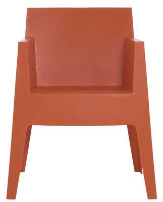 Mobilier - Chaises, fauteuils de salle à manger - Fauteuil empilable Toy - Driade - Orange - Polypropylène