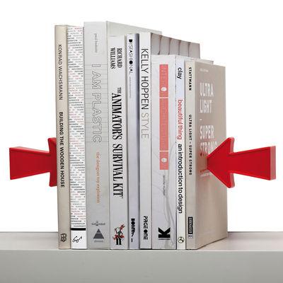 Interni - Ufficio - Fermalibri Arrow - magnetico - Set di 2 di Pa Design - Rosso - Metallo, Plastica
