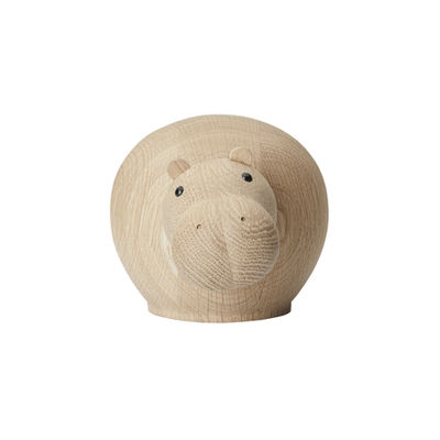 Déco - Pour les enfants - Figurine Hibo MEDIUM / Hippopotame - L 20 cm - Woud - Hippopotame / Chêne - Chêne massif