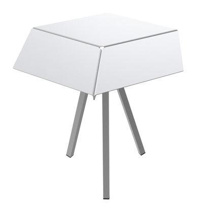 Guéridon Kuban / H 60 cm - Matière Grise blanc en métal