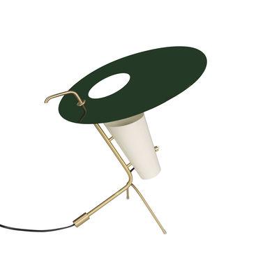 Illuminazione - Lampade da tavolo - Lampada da tavolo G24 - / Riedizione 1953, Pierre Guariche - H42 cm di SAMMODE STUDIO - Verde inglese - Alluminio, Ottone