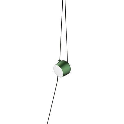 Lampe Aim Small LED / À suspendre - Branchement secteur / Ø 17 cm - Flos vert en métal