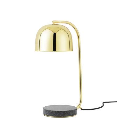 Lampe de table Grant / Laiton & Base granite - Normann Copenhagen laiton,gris tonnerre en métal