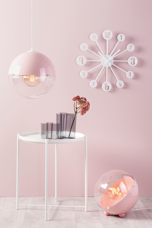 Lampe De Table Orion O 33 Cm Rose Poudre Transparent Koziol