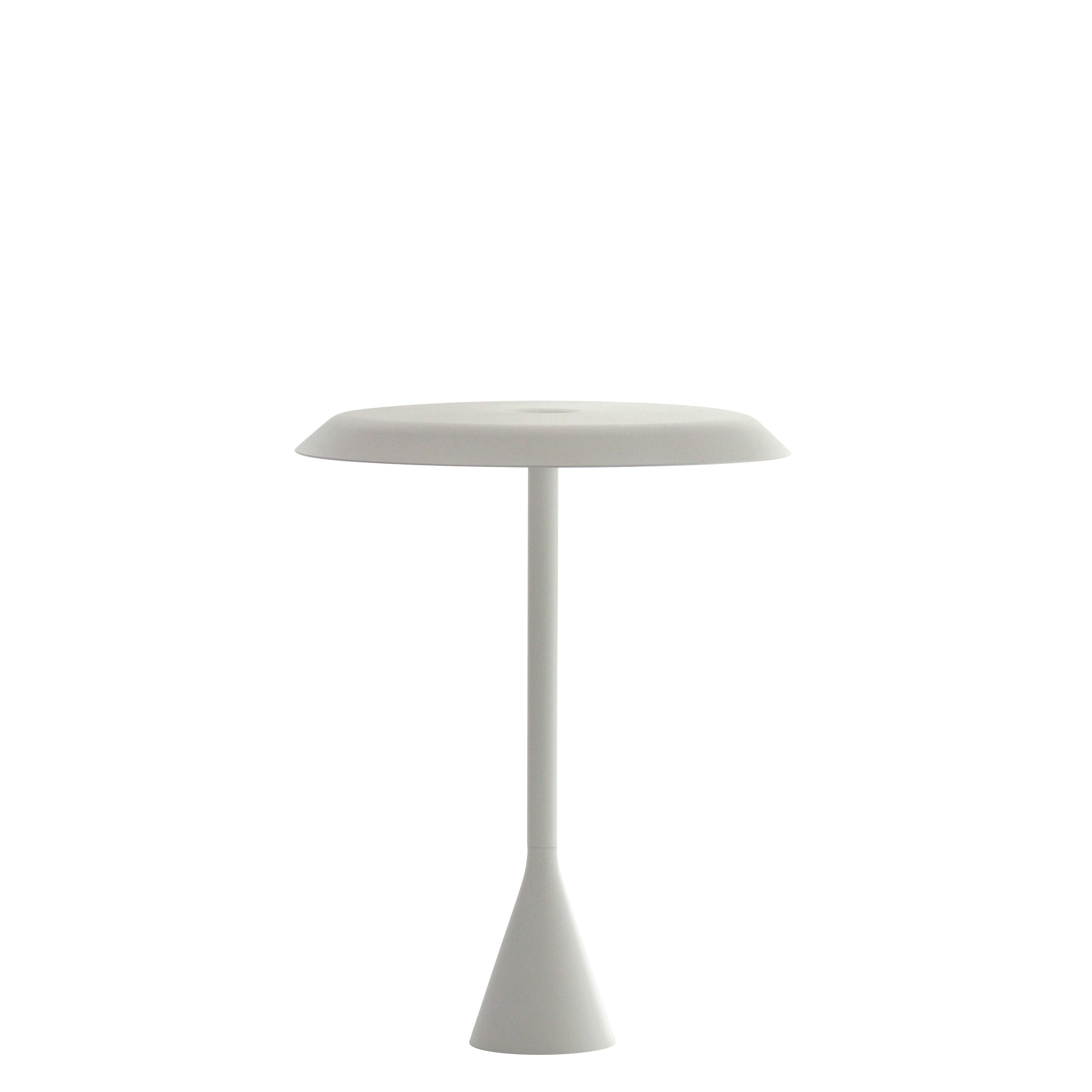 Luminaire - Lampes de table - Lampe sans fil Panama Mini LED / Aluminium - H 30 cm - Nemo - Blanc - Aluminium peint