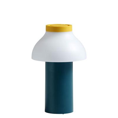Luminaire - Lampes de table - Lampe sans fil PC Portable / Pour l'extérieur - Recharge USB - Hay - Vert Océan, Blanc & jaune - ABS, Polypropylène