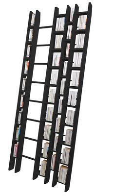 Arredamento - Scaffali e librerie - Libreria Hô + - larghezza 96 cm - Esclusiva di La Corbeille - Nero - Faggio massello laccato