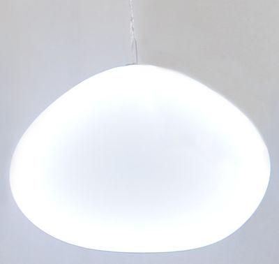 Luminaire - Suspensions - Mobile Shiny Shadow Nimbostra lumineux - 98 x 75 cm - Smarin - Blanc / Ovale 87 x 52 cm - Acier, Soie