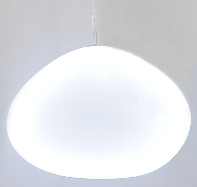 Luminaire - Suspensions - Mobile Shiny Shadow Nimbostra lumineux - 98 x 75 cm - Smarin - Blanc / Ovale 98 x 75 cm - Acier, Soie