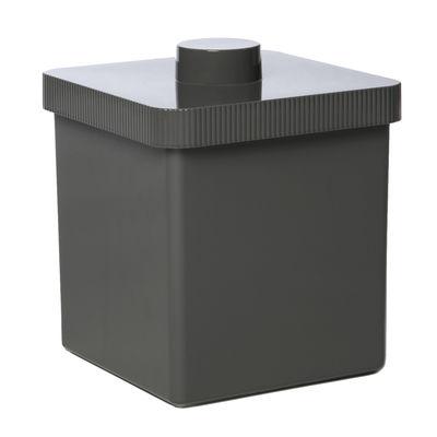 Dekoration - Badezimmer - Kali Mülleimer 10 L - Authentics - Dunkelgrau - Plastik