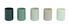 Portacandela Spot - / Set da 5 - Vetro di Hay