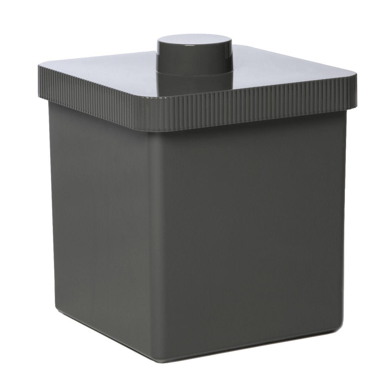 Déco - Salle de bains - Poubelle Kali 10 Litres - Authentics - Gris foncé - Plastique