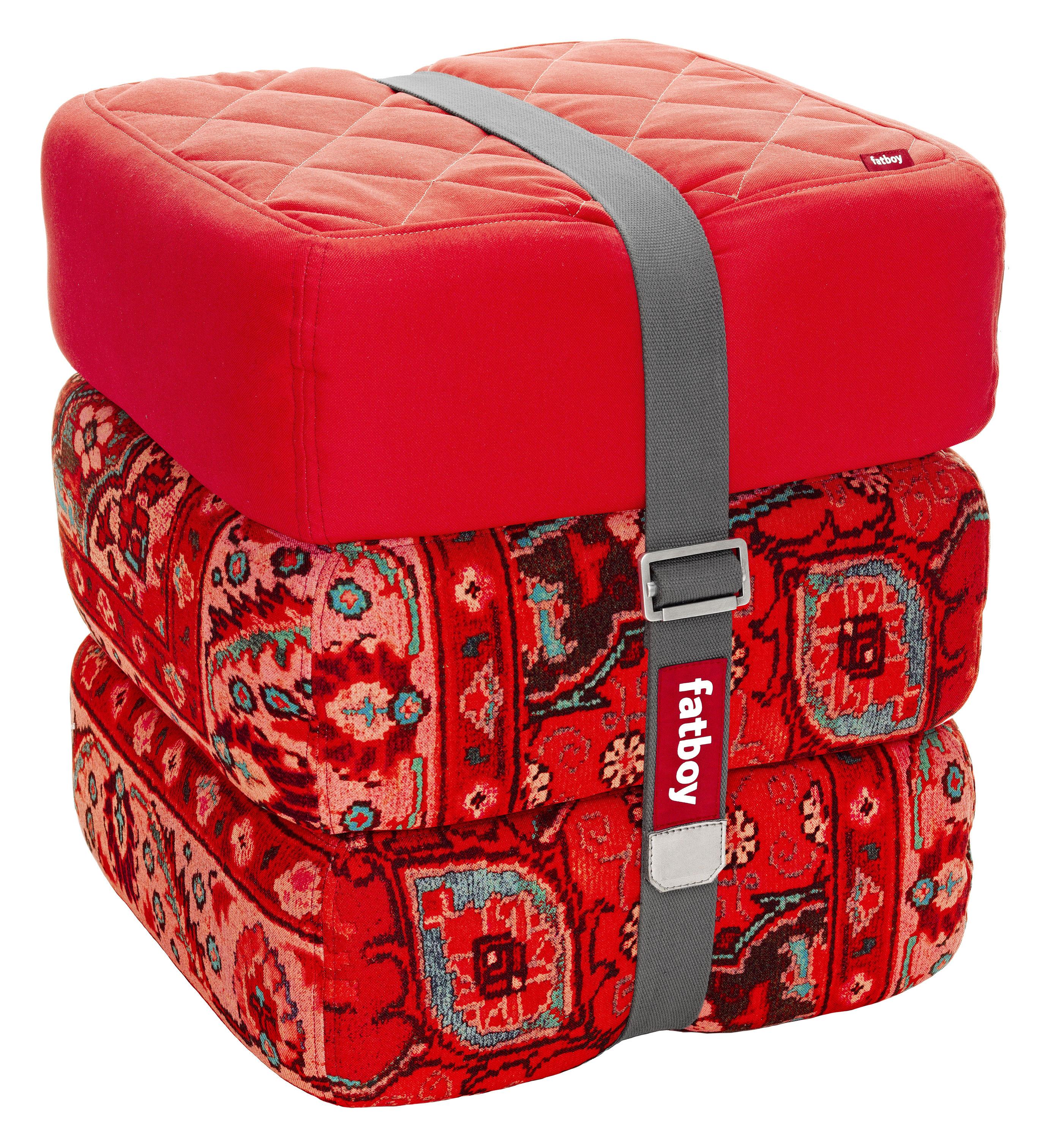 pouf baboesjka / set 3 coussins de sol rouge / rouge persan - fatboy